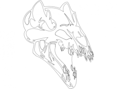 skull 001 Free Dxf for CNC
