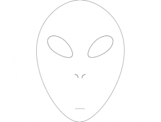 alien face Free Dxf for CNC