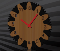 wall clock Free Dxf for CNC