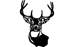 buck mule deer Free Dxf for CNC