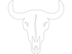 bull skull Free Dxf for CNC