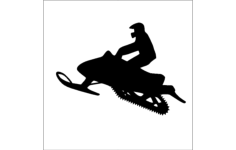snowmobile silhouette Free Dxf for CNC
