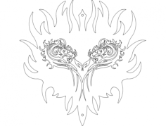 dragon heart Free Dxf for CNC
