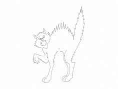 cat angry silhouette Free Dxf for CNC