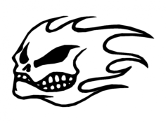 flame skull Free Dxf for CNC