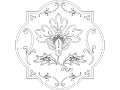 floral 3 Free Dxf for CNC