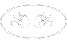 double dove Free Dxf for CNC
