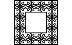 flower frame Free Dxf for CNC