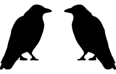 crow Free Dxf for CNC