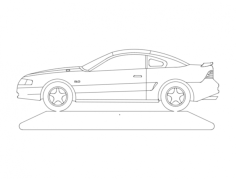 mustang Free Dxf for CNC