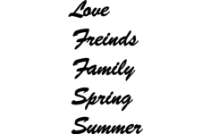 love friends family spring summer Free Dxf for CNC
