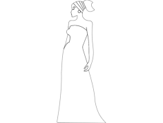 african woman Free Dxf for CNC