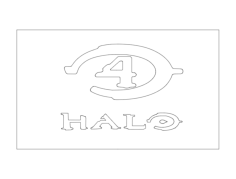 halo 4 Free Dxf for CNC