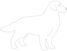 golden retriever Free Dxf for CNC