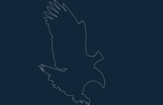 bald eagle Free Dxf for CNC