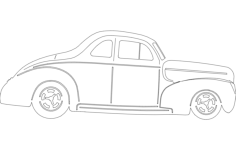 40 ford coupe Free Dxf for CNC