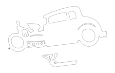 hot rod Free Dxf for CNC