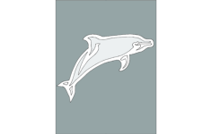 dolphin 2 Free Dxf for CNC