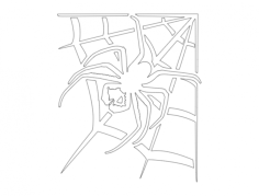 spider with web Free Dxf for CNC