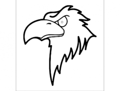 ptak (bird) Free Dxf for CNC
