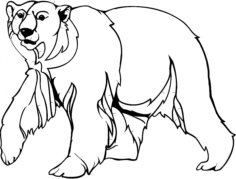 bear 2 Free Dxf for CNC
