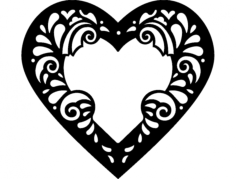 heart frame Free Dxf for CNC