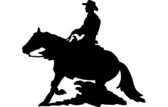 horse and rider Free Dxf for CNC