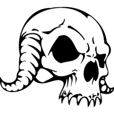 skull 086 Free Dxf for CNC
