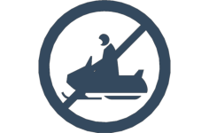 snowmobile no crossing Free Dxf for CNC