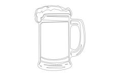 beer mug Free Dxf for CNC