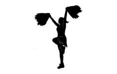 cheerleader Free Dxf for CNC
