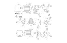 chairs 3d Free Dxf for CNC