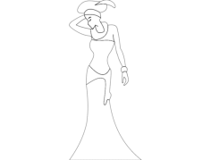 african lady Free Dxf for CNC