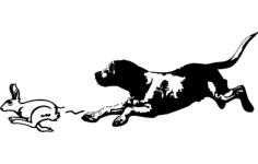 beagle rabbit Free Dxf for CNC