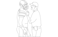 cowher and ben lineart Free Dxf for CNC