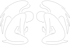 angel Free Dxf for CNC