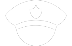 police hat Free Dxf for CNC