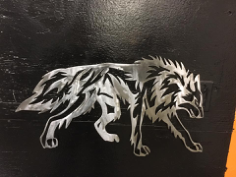 wolf tribalda Free Dxf for CNC