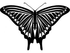 butterfly 04 Free Dxf for CNC