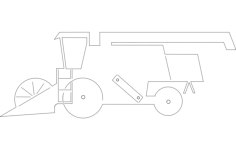 combine harvester Free Dxf for CNC