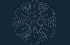 flowery Free Dxf for CNC