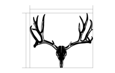 deer head Free Dxf for CNC