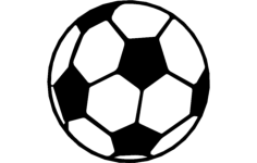 soccer ball Free Dxf for CNC