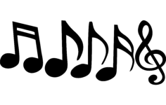 music notes Free Dxf for CNC
