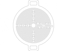 church labyrinths for 7mm ball Free Dxf for CNC