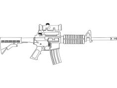 ar-15 gun Free Dxf for CNC