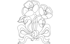flowers 8 Free Dxf for CNC