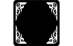 frame- 1 Free Dxf for CNC
