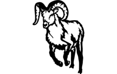bighorn mountain goat Free Dxf for CNC