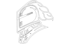 knight 1 Free Dxf for CNC